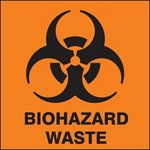 Biohazard Waste Drum ID Label