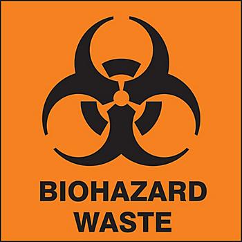 Biohazard Waste Drum ID Label