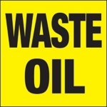 Waste Oil Drum ID Label