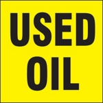 Used Oil Drum ID Label