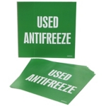 Used Antifreeze Drum ID Label
