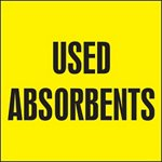 Used Absorbents Drum ID Label