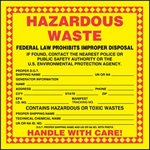 Hazardous Waste Shipping Label with UN/NA ID Number