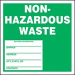 Non-Hazardous Waste Shipping Label