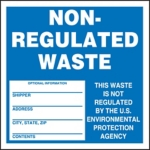 Non-Regulated Waste Shipping Label