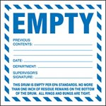 Empty Previous Contents Waste Shipping Label
