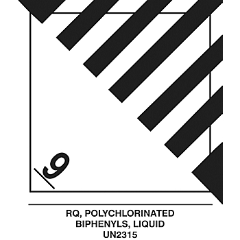 PCB Hazard Class 9 Hazardous Material Shipping Roll Labels