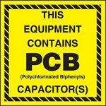 This Equipment Contains PCB Capacitor(s) Label