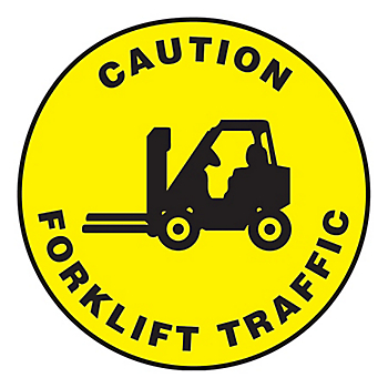 Caution Forklift Traffic Slip-Gard™ Floor Sign