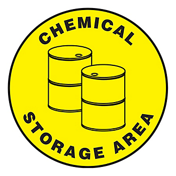 Chemical Storage Area Slip-Gard™ Floor Sign