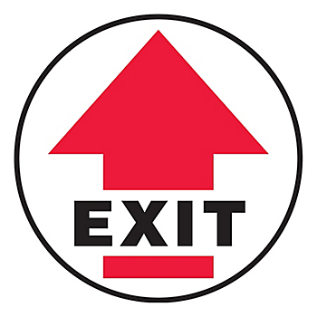 Exit Slip-Gard™ Floor Sign