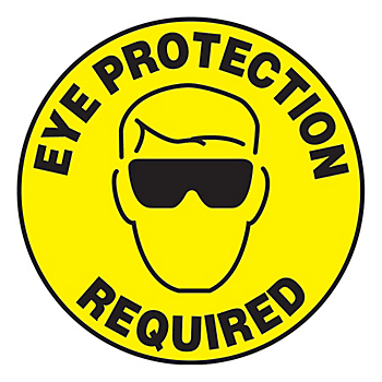 Eye Protection Required Slip-Gard™ Floor Sign
