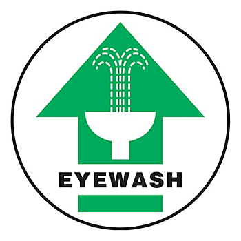 Eyewash Slip-Gard™ Floor Sign