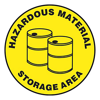 Hazardous Material Storage Area Slip-Gard™ Floor Sign