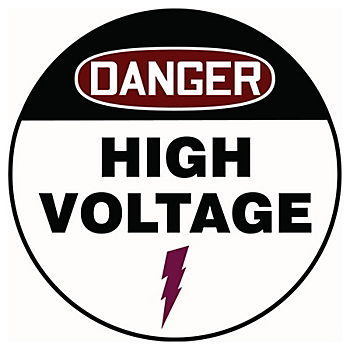 Danger High Voltage Slip-Gard™ Floor Sign