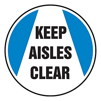 Keep Aisles Clear Slip-Gard™ Floor Sign