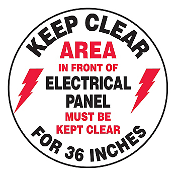 Keep Clear Area in Front of Electrical Panel Slip-Gard™ Floor Sign