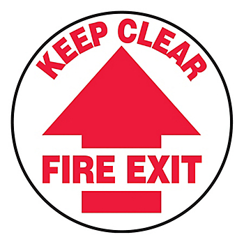 Keep Clear Fire Exit Slip-Gard™ Floor Sign