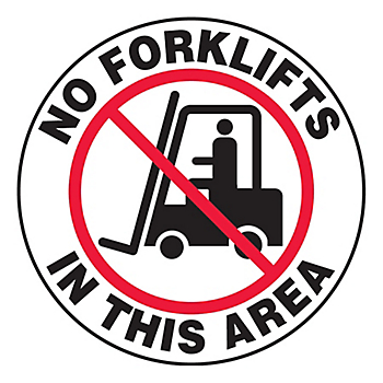 No Forklifts In This Area Slip-Gard™ Floor Sign