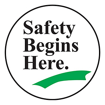 Safety Begins Here Slip-Gard™ Floor Sign