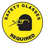 Safety Glasses Required Slip-Gard™ Floor Sign