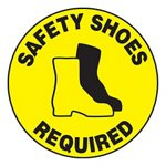 Safety Shoes Required Slip-Gard™ Floor Sign