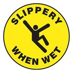 Slippery When Wet Slip-Gard™ Floor Sign