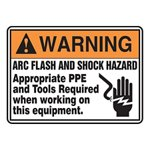 Warning Arc Flash and Shock Hazard Sign