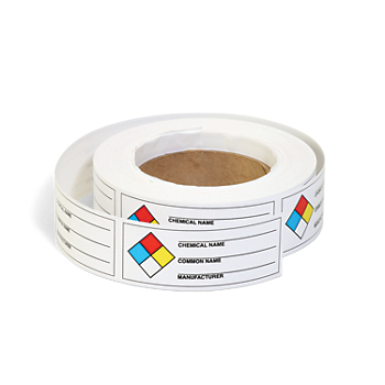 NFPA Chemical Identifier Roll Labels
