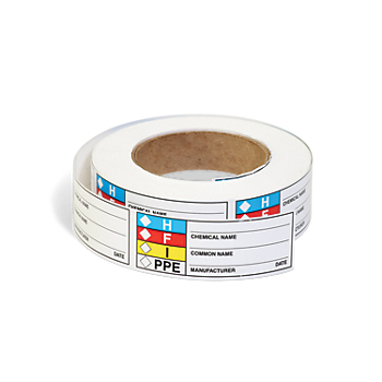 HMCIS Chemical Identifier Roll Labels
