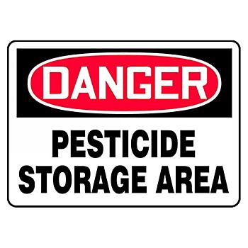 Danger Pesticide Storage Area Sign