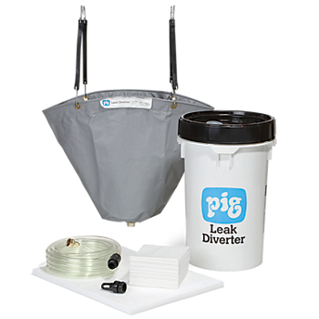 PIG® Oil Pipe Leak Diverter Bucket Kit with Absorbents