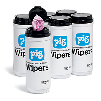PIG® Premoistened Hand and Surface Wipers