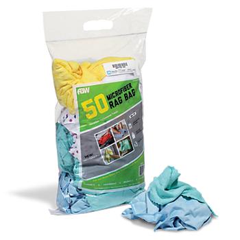 Reusable Microfiber Rags in Bulk Bag