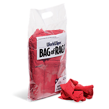 WorkWipes® Red Shop Towels in Bag