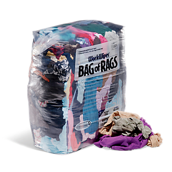 WorkWipes® Reclaimed Colored T-Shirt in Bag