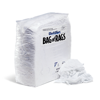 WorkWipes® New White T-Shirt in Bag