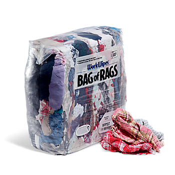 WorkWipes® Reclaimed Colored Flannel in Bag