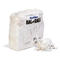 WorkWipes® Reclaimed White T-Shirt in Bag