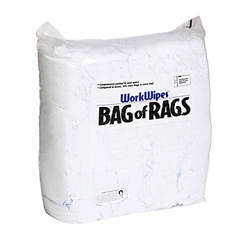 WorkWipes® Reclaimed White Institutional Linen in Bag