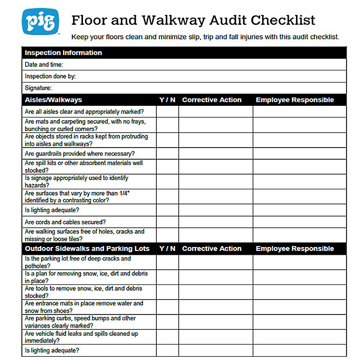 Floor and Walkway Audit Checklist