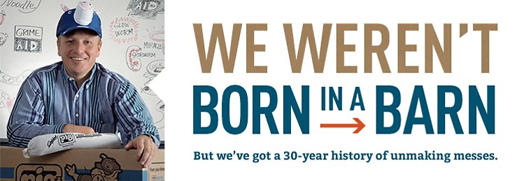 We weren't born in a barn, but we do have a 30 year history.