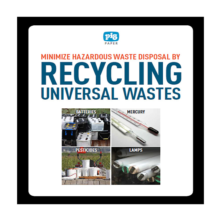 How to Minimize Hazwaste Disposal by Recycling Universal Wastes